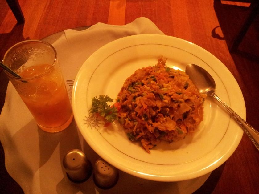 My dinner Day 1 (Chicken Kottu & Mandarin juice)