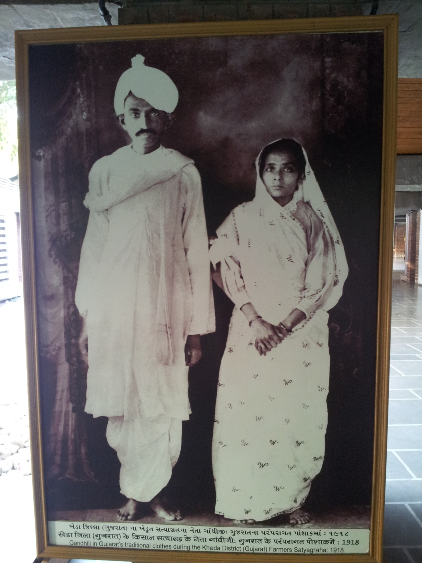 Mahatma in his younger days with wife Kasturba
