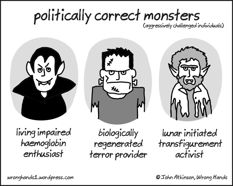 Image by: Wrong Hands, politically correct monsters