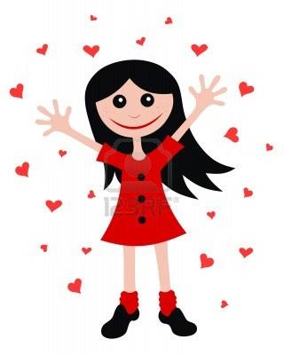 6251374-abstract-vector-illustration-of-happy-girl-cartoon-style