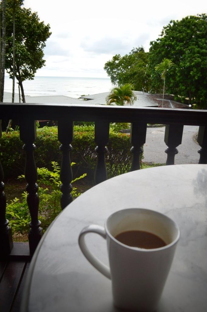 Coffee by the beach, Shereton Resort Langkawi